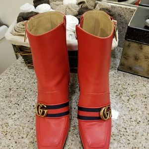 Gucci red boots